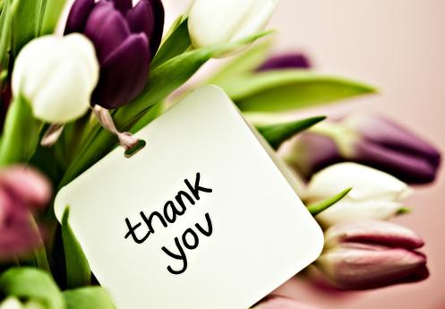 花「チューリップカード、ありがとうございました。」:スマホ壁紙(17)