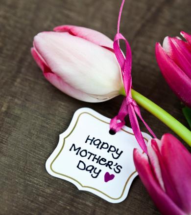 母の日「チューリップ、母の日カード」:スマホ壁紙(18)
