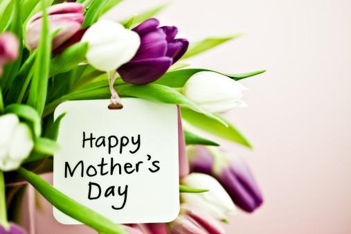 母の日「チューリップ、母の日カード」:スマホ壁紙(8)