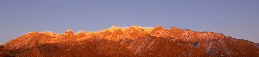 Sandia Mountains「landscape panoramic winter mountain sunset」:スマホ壁紙(4)