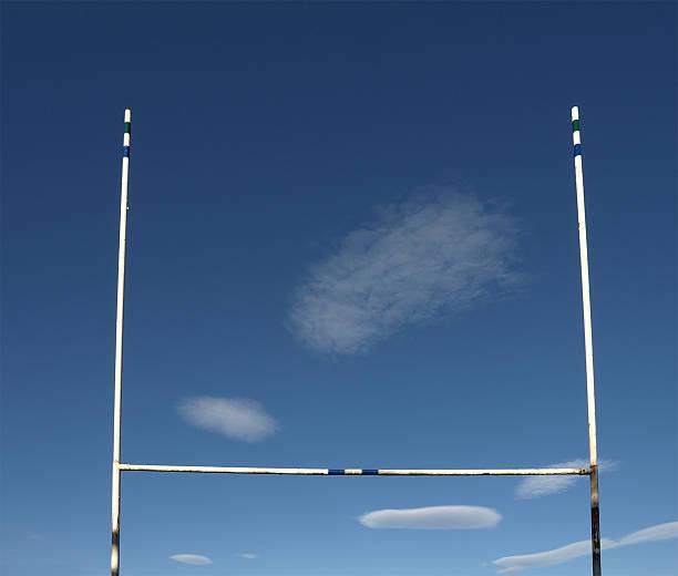 Landscape photograph if Rugby goal posts:スマホ壁紙(壁紙.com)