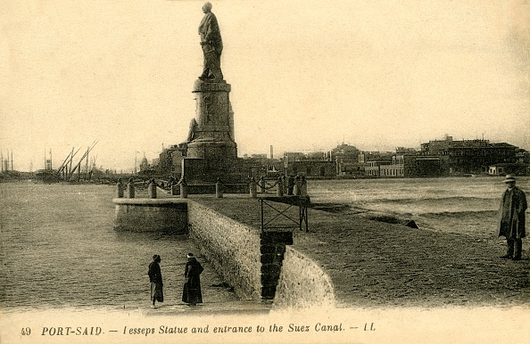 Canal「Port Said - Lesseps Statue And Entrance To The Suez Canal - Ll」:写真・画像(16)[壁紙.com]