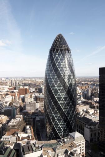 Sir Norman Foster Building「London high cityscape with Gherkin building」:スマホ壁紙(18)