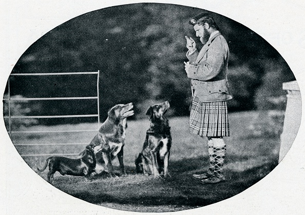Kilt「'Mr. Francis Clark, The Queen's Gillie, with three of her favourite dogs', c1899, (1901)」:写真・画像(15)[壁紙.com]