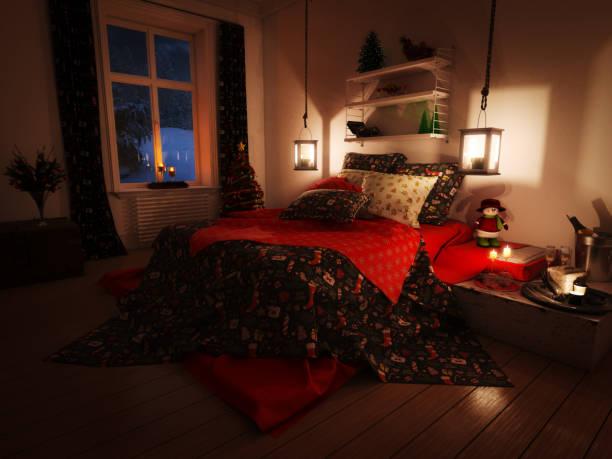 Lovely Christmas Bedroom:スマホ壁紙(壁紙.com)