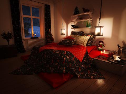 Christmas「Lovely Christmas Bedroom」:スマホ壁紙(11)