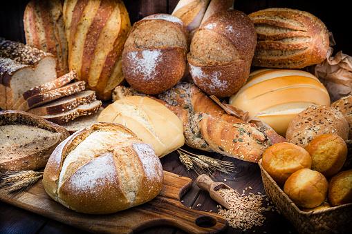 Loaf of Bread「Different types of bread still life」:スマホ壁紙(14)