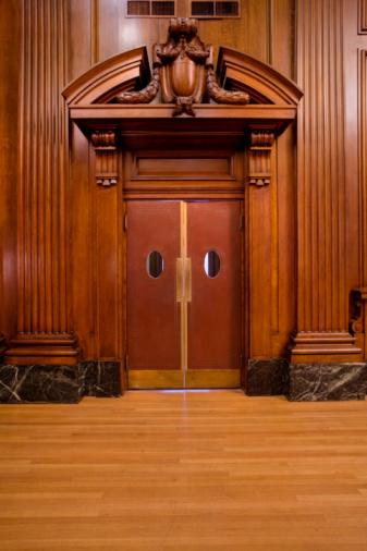 Wood Paneling「Entrance door to courtroom」:スマホ壁紙(11)