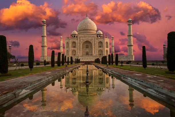 Morning in Taj Mahal:スマホ壁紙(壁紙.com)
