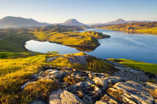 Scottish Highlands「Loch Inchard in early morning light」:スマホ壁紙(9)