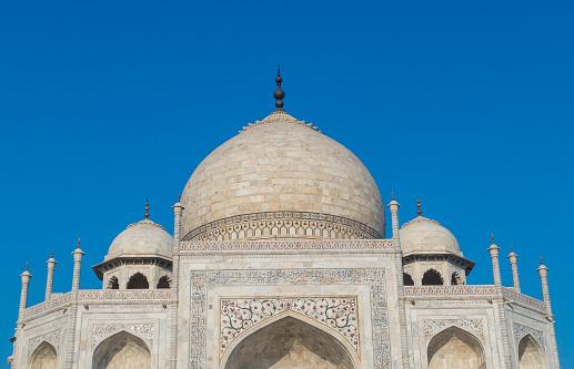 Agra「Close of Details on the Taj Mahal in Agra India.」:スマホ壁紙(6)