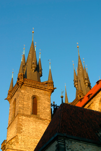 St Vitus's Cathedral「The roof of the Tyn Church Old Town Prague」:スマホ壁紙(1)