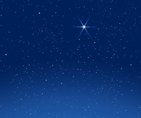 星空「Lucky star」:スマホ壁紙(15)