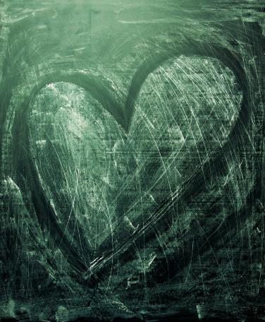 February「Grunge heart texture」:スマホ壁紙(8)
