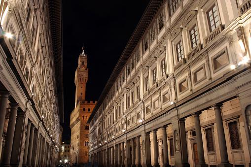 Restoring「Florence Ufizzi at night」:スマホ壁紙(9)