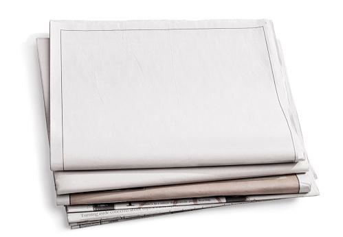 The Media「Blank Newspaper Isolated on White」:スマホ壁紙(12)