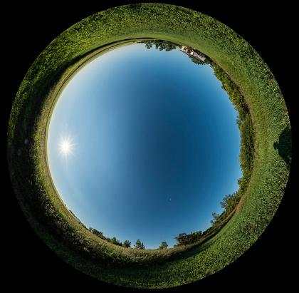 Multiple Exposure「A 360 degree sky polarization panorama.」:スマホ壁紙(16)