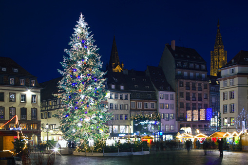 France「Christmas market in Place Kleber」:スマホ壁紙(13)