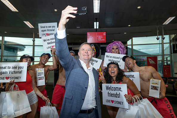 Australian Labor Party「New South Wales Reopens Border With Victoria」:写真・画像(7)[壁紙.com]