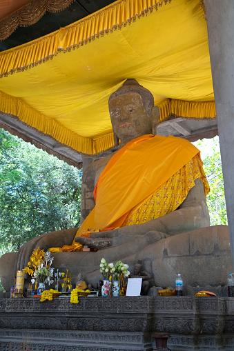 Buddha statue「Angkor Thom, Cambodia」:スマホ壁紙(2)