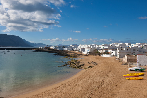 La Graciosa - Canary Islands「Caleta del Sebo village」:スマホ壁紙(5)
