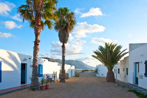La Graciosa - Canary Islands「Caleta del Sebo village」:スマホ壁紙(1)