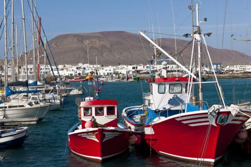 La Graciosa - Canary Islands「Caleta del Sebo village」:スマホ壁紙(5)