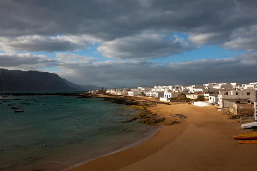 La Graciosa - Canary Islands「Caleta del Sebo village」:スマホ壁紙(12)