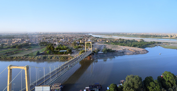 East Africa「Tuti Bridge and Tuti Island, where the White Nile and Blue Nile merge to form the main Nile - Khartoum, Sudan」:スマホ壁紙(0)