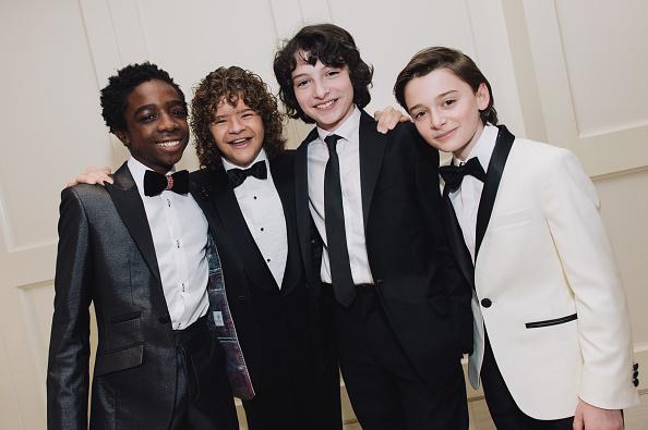 Noah Schnapp「Finn Wolfhard, Caleb McLaughlin and Noah Schnapp Prepare For The 74th Annual Golden Globe Awards」:写真・画像(18)[壁紙.com]