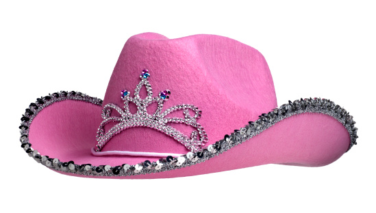 Girly「Pink Cowboy Hat on White」:スマホ壁紙(15)