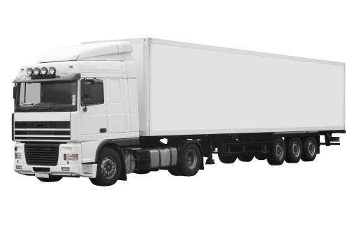 Freight Transportation「White articulated truck on a white background with path」:スマホ壁紙(14)