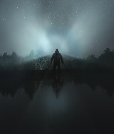 星空「夏の霧の影」:スマホ壁紙(3)