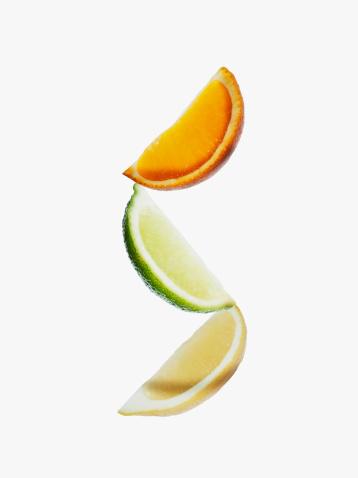 Orange - Fruit「Orange, lime and lemon wedges」:スマホ壁紙(3)