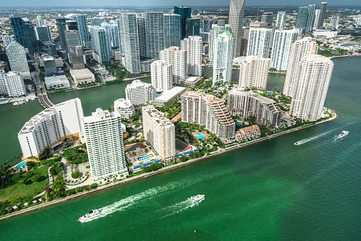 Miami Beach「マイアミのダウンタウンの空中写真」:スマホ壁紙(5)
