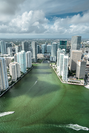 Miami Beach「マイアミのダウンタウンの空中写真」:スマホ壁紙(2)