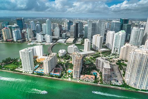 Miami Beach「マイアミのダウンタウンの空中写真」:スマホ壁紙(14)