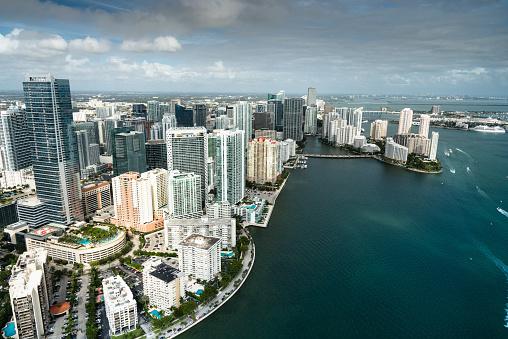 Miami「Miami downtown aerial view」:スマホ壁紙(16)