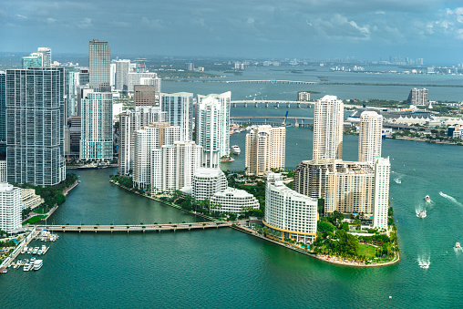 Miami Beach「マイアミのダウンタウンの空中写真」:スマホ壁紙(17)