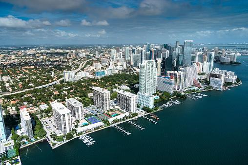 Miami「Miami downtown aerial view」:スマホ壁紙(12)