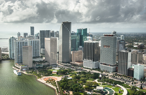 Miami「Miami downtown aerial view」:スマホ壁紙(15)