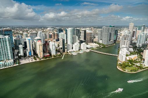 Miami Beach「マイアミのダウンタウンの空中写真」:スマホ壁紙(11)