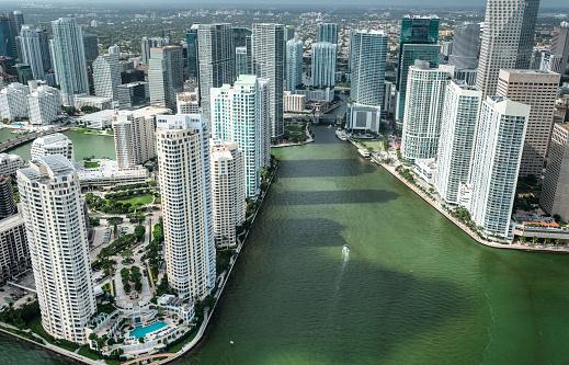 Miami Beach「マイアミのダウンタウンの空中写真」:スマホ壁紙(6)