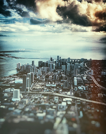 Miami Beach「マイアミのダウンタウンの空中写真」:スマホ壁紙(4)