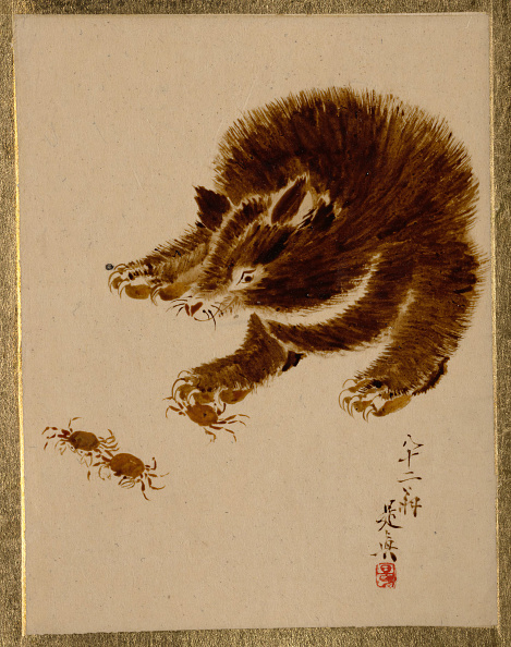 Crustacean「Bear And Crabs. Creator: Shibata Zeshin.」:写真・画像(13)[壁紙.com]