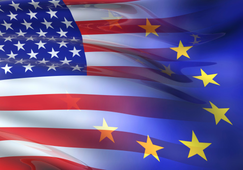 European Union「US - EU flag 3D」:スマホ壁紙(5)