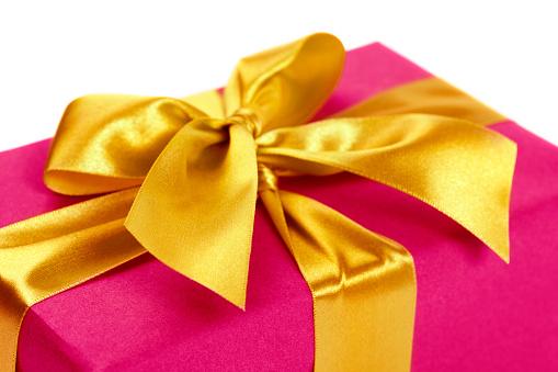 Receiving「Gift box with golden ribbon」:スマホ壁紙(10)