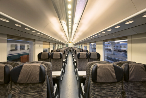 Passenger Train「Modern train interior」:スマホ壁紙(8)