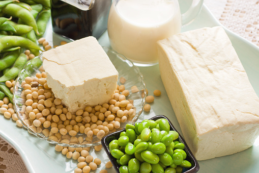 Tofu「Soy Bean Food and Drink Products Photograph with Several Elements」:スマホ壁紙(2)