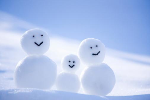 雪だるま「A Snowman Family」:スマホ壁紙(5)